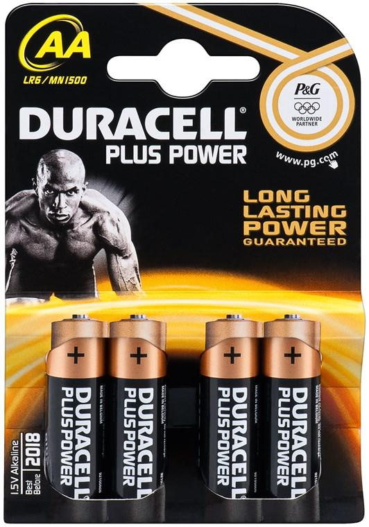 DURACELL PLUS POWER LR6/AA ALKÁLI MANGÁN ELEM (4 darabos szett)