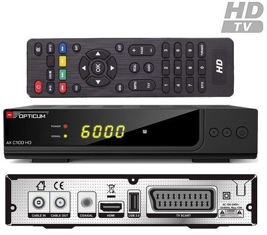 OPTICUM AX C100 HD DVB-C KÁBEL TV BELTÉRI EGYSÉG