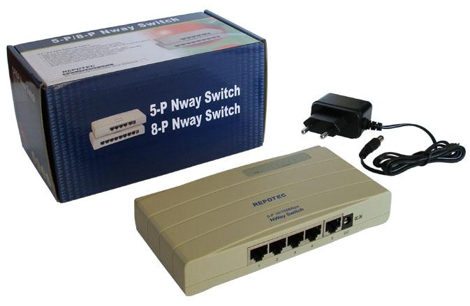 REPOTEC 5P ETHERNET SWITCH RP-1705K