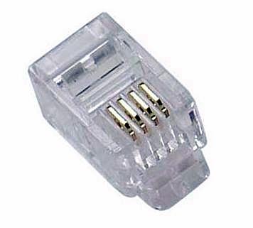 RJ11 TELEFON CSATLAKOZÓ DUGÓ 6P4C