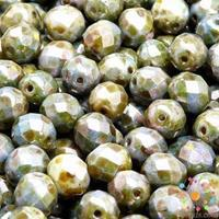 10mm Green Marble Opaque Luster