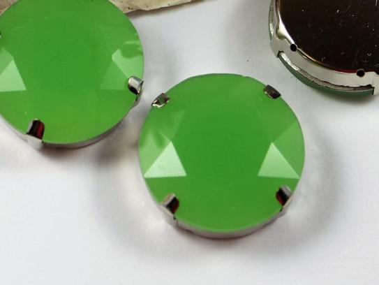 27 mm üveg rivoli opál zöld