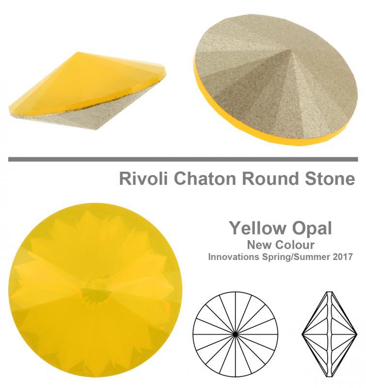 8 mm Yellow opal