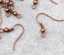 Fülbevaló alap bronz színű