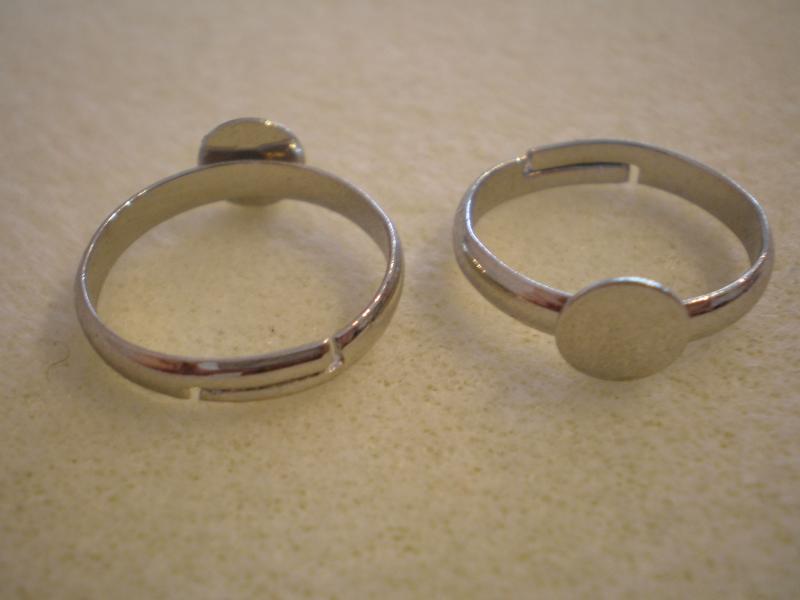 Gyűrűalap ezüst színű