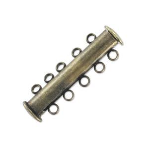 Mágneses csőkapocs bronz színű