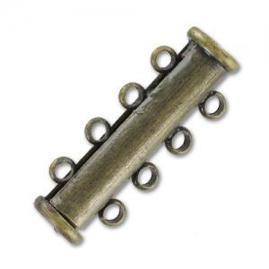 """Mágneses csőkapocs bronz színű """"4-es"""""""