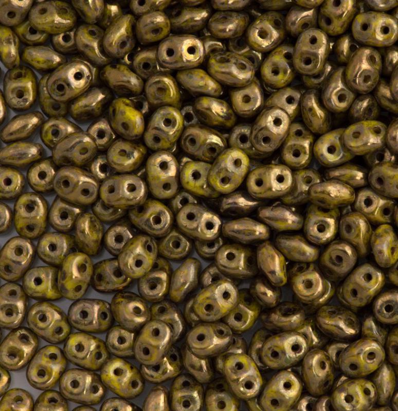 Miniduo opaque yellow bronze picasso