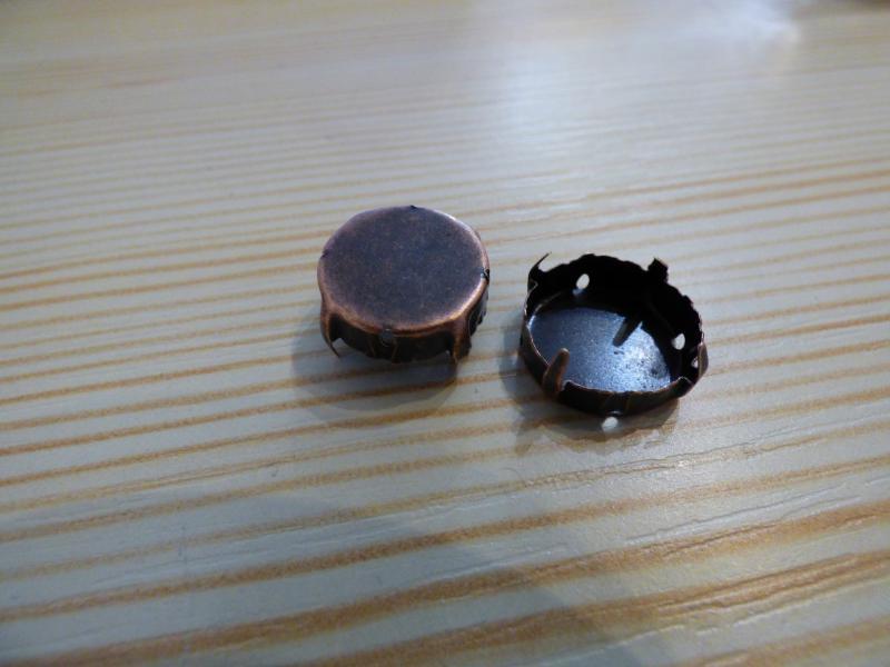 Rivoli foglalat 16mm bronz