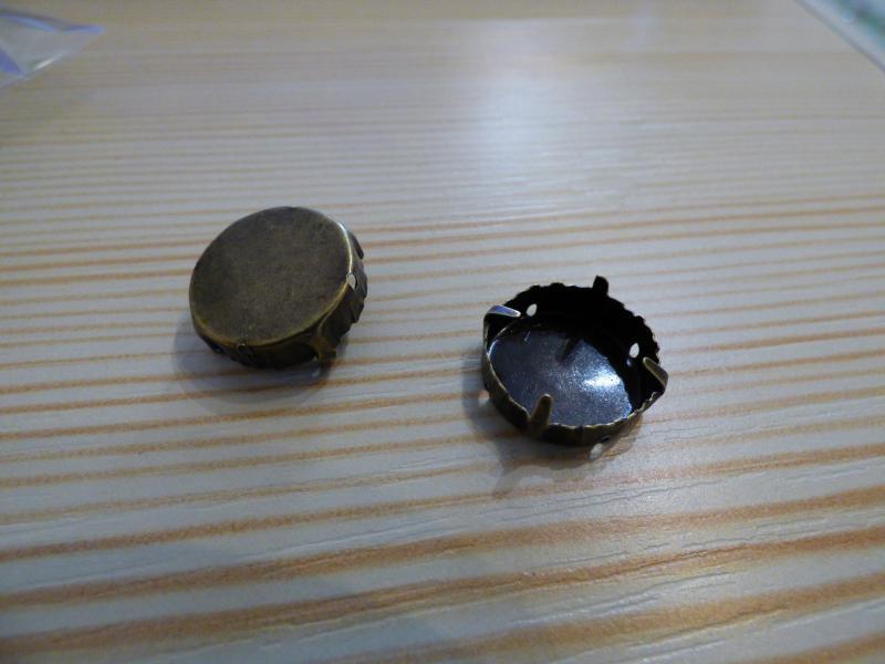Rivoli foglalat 18mm antik réz