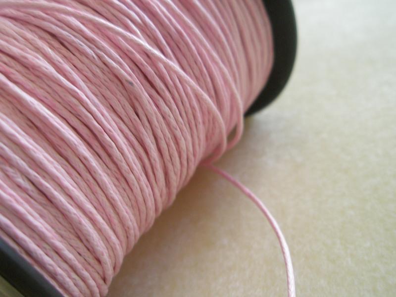 Rózsaszín viaszolt szál
