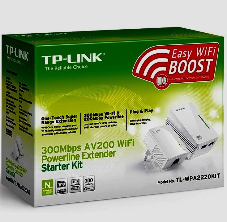 240V-on LAN-wifi Powerline adapter TL-WPA2220KIT