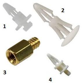 Alaplapi rögzítők  müanyag vagy réz