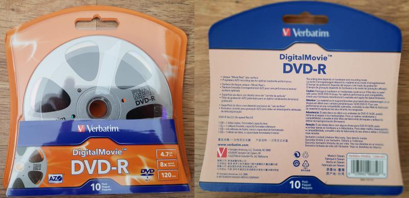 DVD lemez Verbatim DVD-R 10db-os