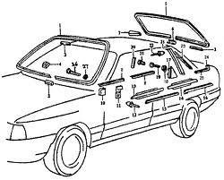 Első sárvédő díszléc bal Audi 100