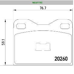 Fékbetét első Audi100 76-81   WVA 20260