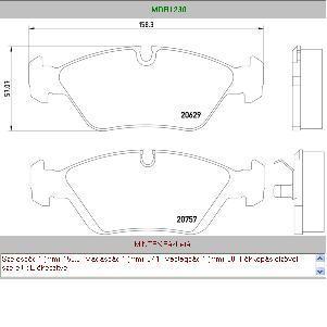 Fékbetét első BMW E30 E34 E36 E46 Z3 E21 E28 WVA20629
