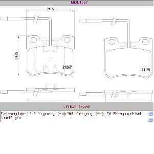 Fékbetét első Citroen AX 88-96 SR510