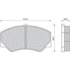 Fékbetét első Ford Tranzit wva21141-18