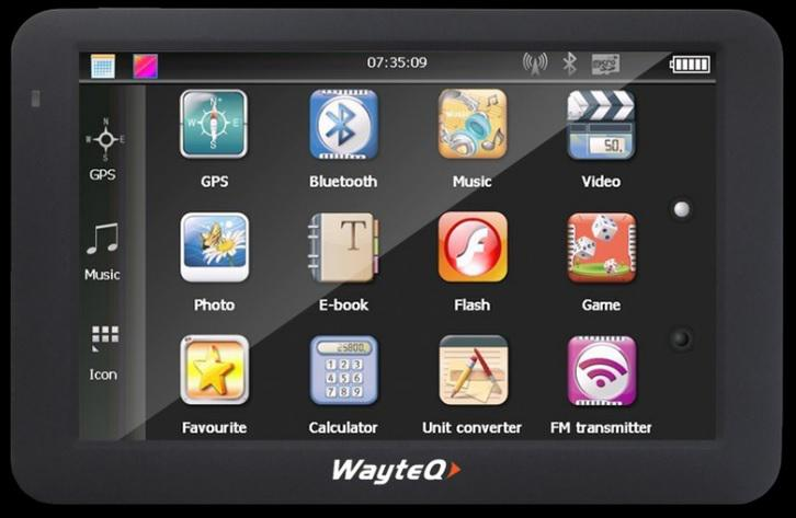 GPS 5' Wayteq X985BT Windows CE 6.0