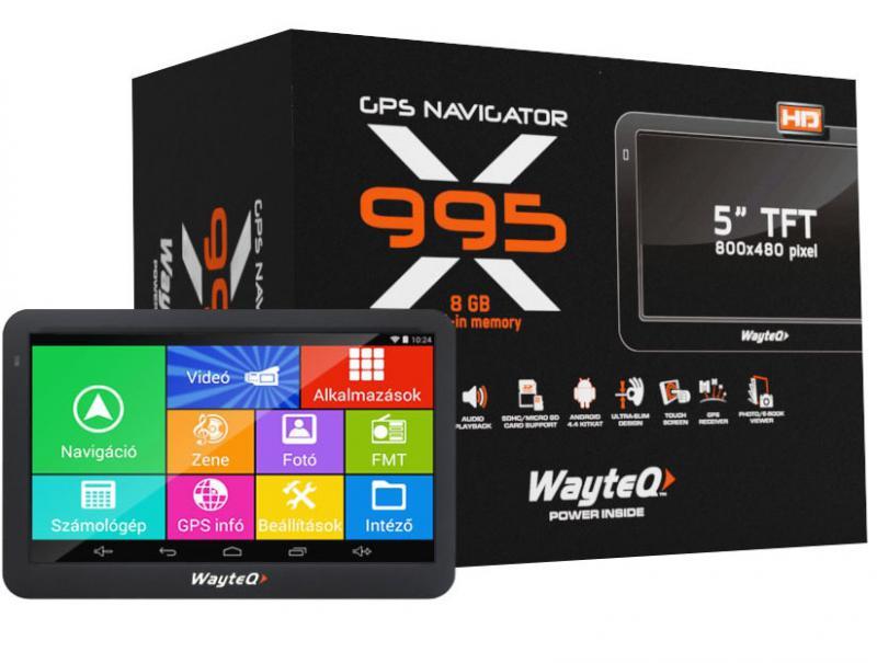 GPS 5' Wayteq X995BT ANDROID