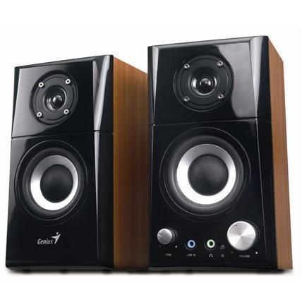 Hangszóró  Genius SP-HF 500A 2.0 barna fadobozos 14w