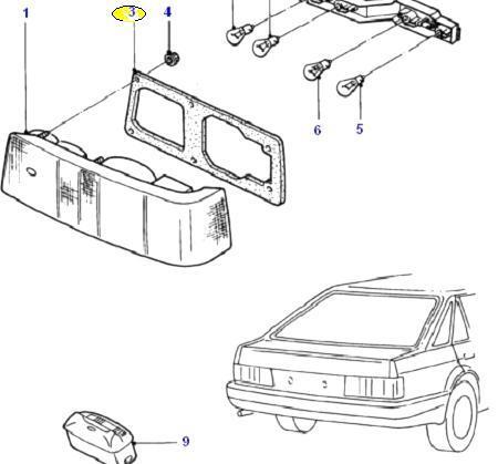 Hátsó lámpa szigetelő gumi Ford Escort