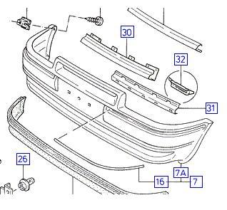 Hűtő díszrács Ford Escort 89-