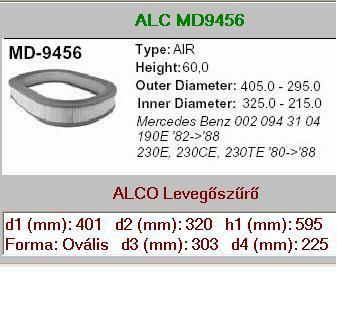 Levegőszűrő Mercedes w123/190 2000/2300i