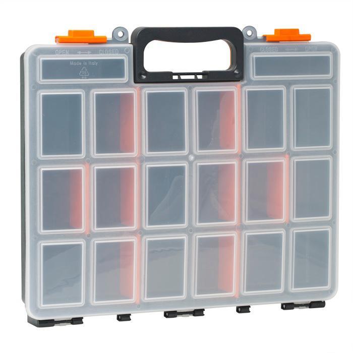 Műanyag alkatrész, csavartartó doboz  380x330x60mm