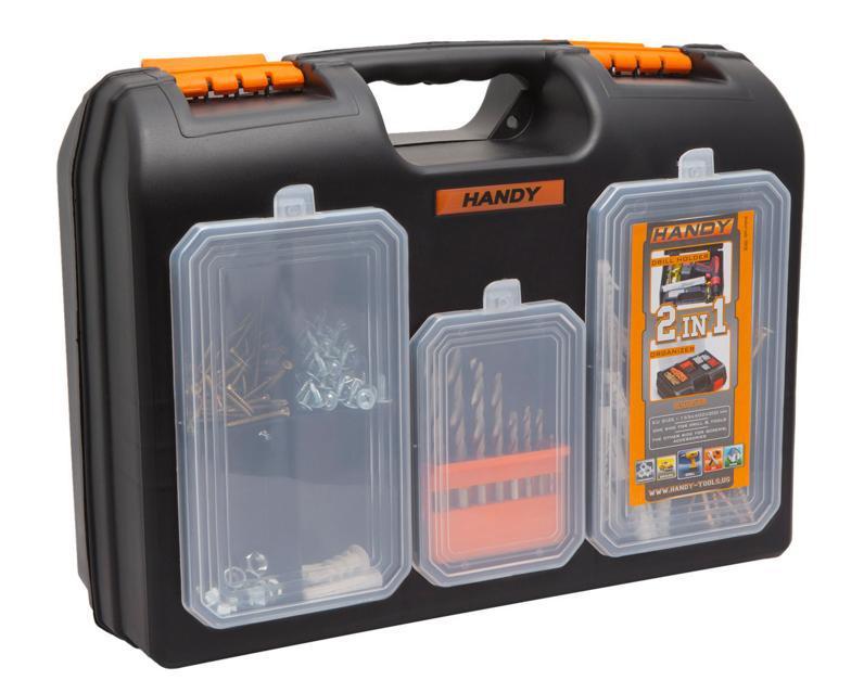 Műanyag szerszám és csavartartó doboz 10958
