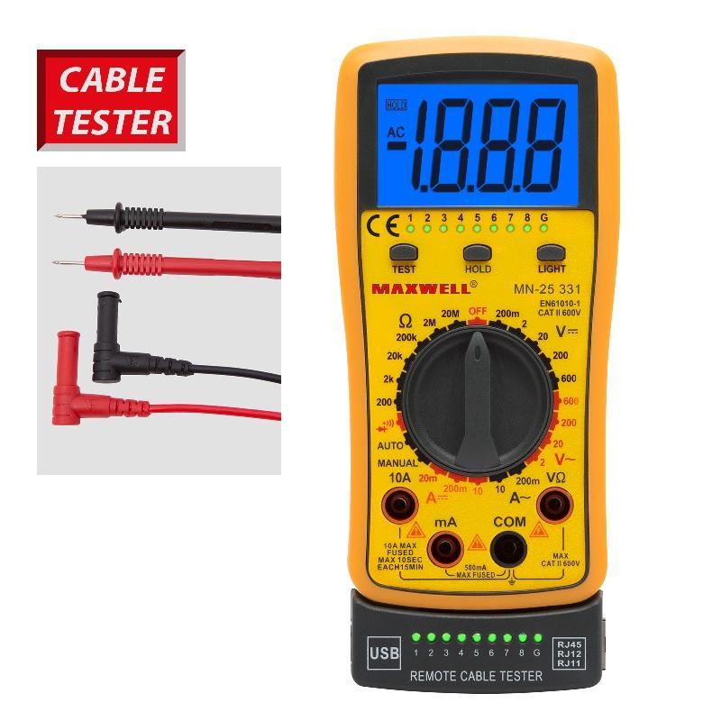 Műszer kombinált kábel tesztelő  25331