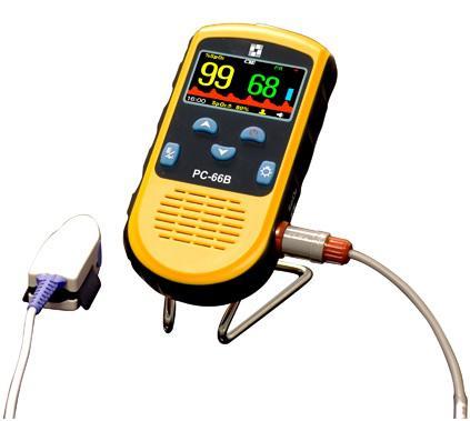 Oxigénszaturáció, pulzusszám-/intenzitásmérés,szívritmus görbe,adattárolás,USB