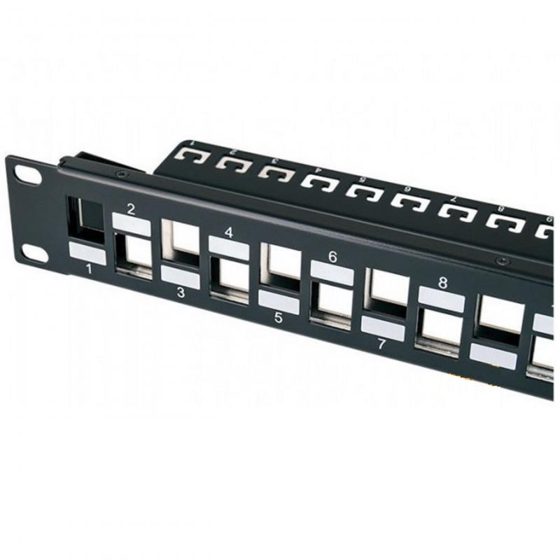 Rack Patch Panel UTP 24x RJ45 CAT6 földeléssel