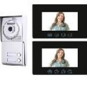Video kaputelefon és kapunyitó 2db 7' beltérivel 2vezetékes Codefon