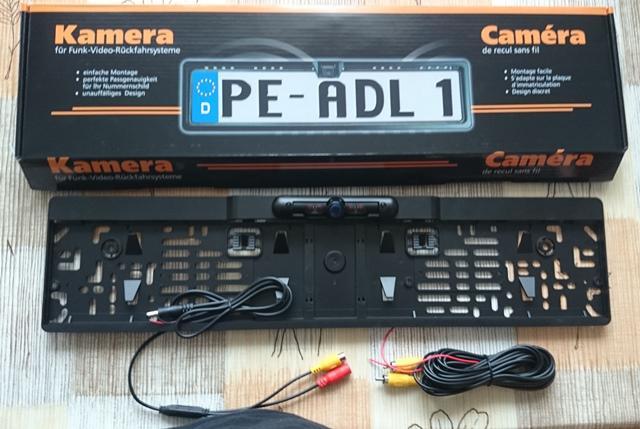 Tolató kamera Rendszámtáblakeretbe