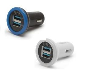 USB adapter autós 12v/24v  2db USB világítással