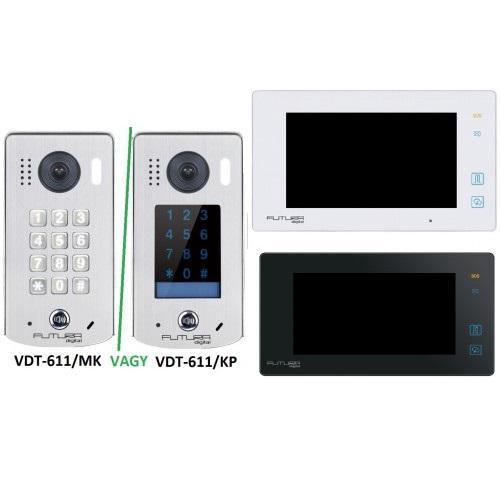 Video kaputelefon digital  kapunyitó nyitó monitorral kpl. soklakáshoz is 2kapunyitás
