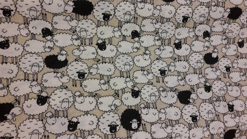 Fekete   fehér bárányos erős vászon táska - kavalkad.superwebaruhaz.hu a8662aa7b6