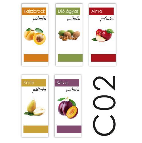 Pálinka címke C02