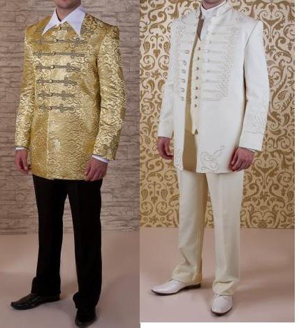 Atilla öltöny Arany vagy ekrü 4K vitézkötéssel.