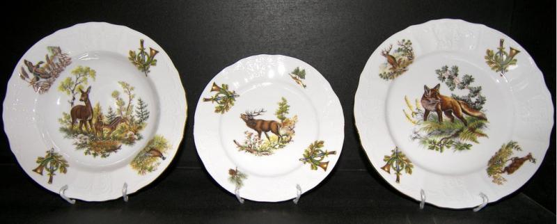 Bernadotte Csemege tányér 19 cm erdei vad mintás