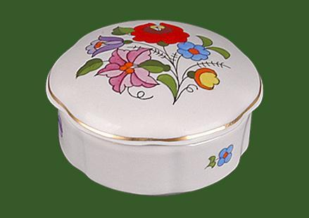 Bonbonier hullámos porcelán vagy ékszertartó