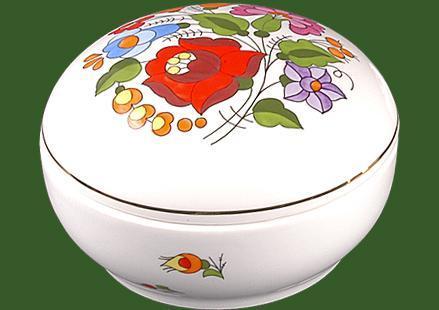 Bonbonier kerek porcelán vagy ékszertartó