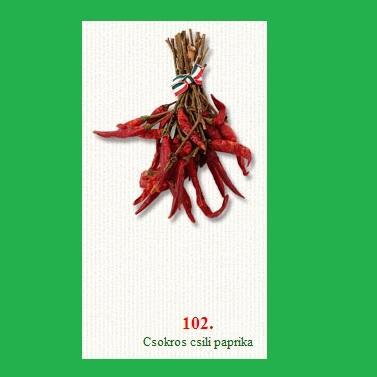 Chilipaprika  erős csokros