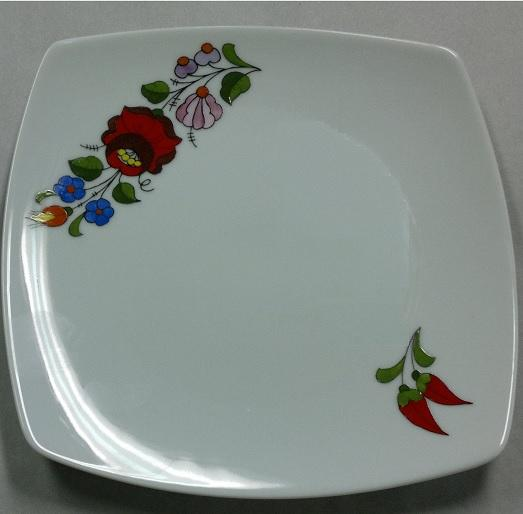 Ét készletből csemegés tányér 19,5x19,5cm /szögletes/