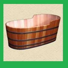 Fa fürdőkád