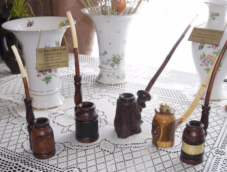 Fa pipa kézi-faragású iparművészi