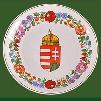 Fali tál (címeres, házi áldás) 19 cm