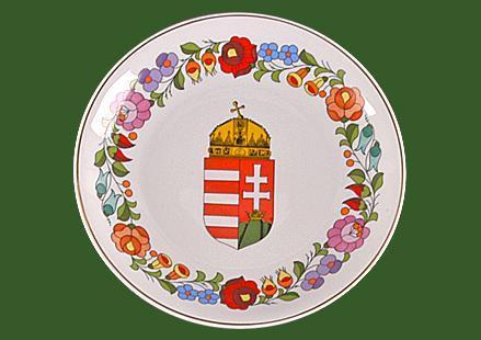 Fali tál (címeres, házi áldás) 190mm